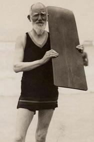 Shaw with Surf Board