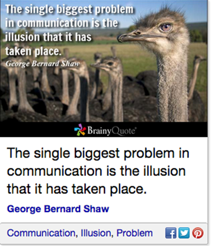 Shaw on illusion of communication